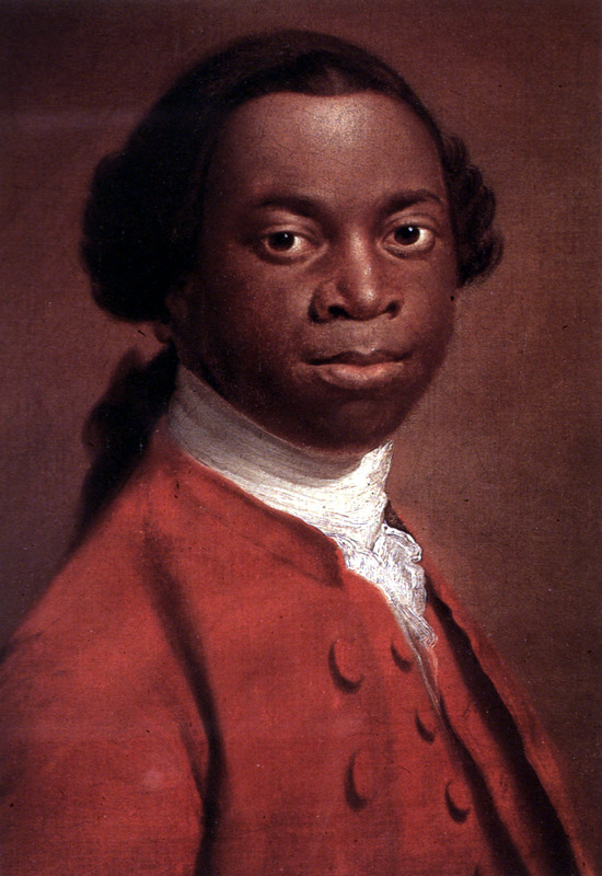 The museum identifies the subject as Gustavus Vassa (c. 1745–1797), or Olaudah Equiano, who was an abolitionist writer who claimed to be born in the Bight of Biafra region. However, this portrait might also be John Stuart (c. 1757–c. 1791), also known as Ottobah Cugoano, who was also an abolitionist writer who was from the Voltaic region. For details, see Jerome S. Handler, Survivors of the Middle Passage: Life Histories of Enslaved Africans in British America, Slavery & Abolition, vol. 23 (2002), pp. 25-56.