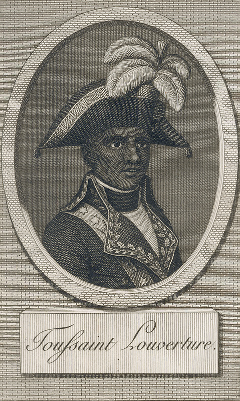 The author of this work was a French writer on historical subjects. This image of Toussaint, produced by the publisher, is one of the earliest; however, no eye-witness portraits of Toussaint are known to exist. See other images of Toussaint on this website.