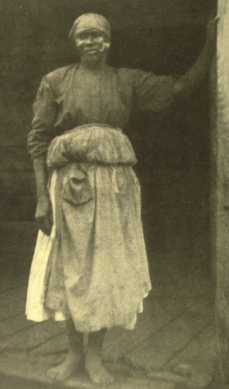 Born a slave on a rice plantation not far from the coast in South Carolina, her dress and general appearance are typical of that part of the state ; see Matthews for biographical and other details on women who come from the same area as Phebe Collins.